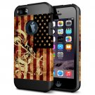 For iPhone 6/6s Motorcycle Pattern PC + TPU Colorful Armor Hard Case