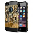 For iPhone 6/6s Deer Pattern PC + TPU Colorful Armor Hard Case