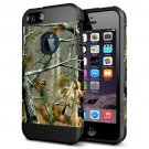 For iPhone 6/6s Tree Pattern PC + TPU Colorful Armor Hard Case