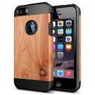 For iPhone 6/6s Pinewood Pattern PC + TPU Colorful Armor Hard Case