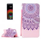 For LG X Power Sunflower PU Leather Case with Holder, Card Slots & Lanyard