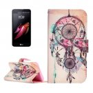 For LG X Screen Dream Catcher Leather Case with Holder, Card Slots & Wallet