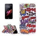 For LG X Screen Graffiti Leather Case with Holder, Card Slots & Wallet