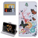 For LG K5 Butterfly Leather Case with Holder, Card Slots & Wallet