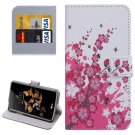 For LG K5 Blossom Leather Case with Holder, Card Slots & Wallet