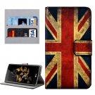 For LG K8 UK Flag Pattern Leather Case with Holder, Card Slots & Wallet