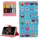 For LG K8 Cartoon Owls Pattern Leather Case with Holder, Card Slots & Wallet
