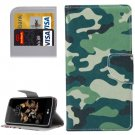 For LG K8 Camouflage Pattern Leather Case with Holder, Card Slots & Wallet