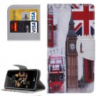 For LG K8 Big Ben Pattern Leather Case with Holder, Card Slots & Wallet