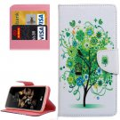 For LG K8 Tree in Bloom Pattern Leather Case with Holder, Card Slots & Wallet