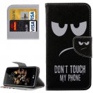 For LG K8 Eyes Pattern Leather Case with Holder, Card Slots & Wallet