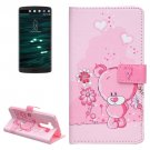 For LG V10 Bear Pattern Leather Case with Holder, Card Slots & Wallet
