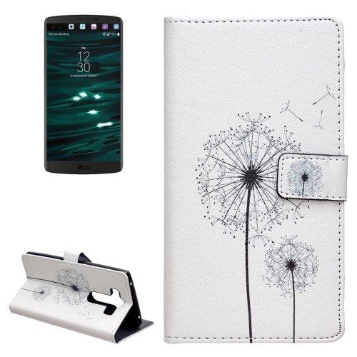 For LG V10 Dandelion Pattern Leather Case with Holder, Card Slots & Wallet