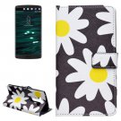 For LG V10 Daisy Pattern Leather Case with Holder, Card Slots & Wallet