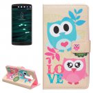 For LG V10 Owls Love Pattern Leather Case with Holder, Card Slots & Wallet