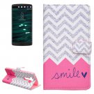 For LG V10 Smile Pattern Leather Case with Holder, Card Slots & Wallet