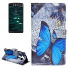 For LG V10 Butterfly Pattern Leather Case with Holder, Card Slots & Wallet