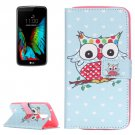 For LG K10 Coloured Owl Pattern Leather Case with Holder, Card Slots & Wallet