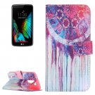 For LG K10 Dreamcatcher Pattern Leather Case with Holder, Card Slots & Wallet