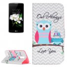 For LG K17 Owls Pattern Leather Case with Holder, Card Slots & Wallet
