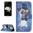 For LG K17 Dog Pattern Leather Case with Holder, Card Slots & Wallet