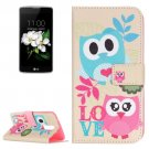 For LG K17 Owls Love Pattern Leather Case with Holder, Card Slots & Wallet