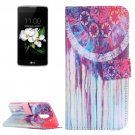 For LG K17 Dreamcatcher Pattern Leather Case with Holder, Card Slots & Wallet