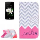 For LG K17 Smile Pattern Leather Case with Holder, Card Slots & Wallet