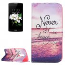 For LG K17 Dreaming Pattern Leather Case with Holder, Card Slots & Wallet
