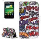 For LG K4 Graffiti Pattern Flip Leather Case with Holder & Card Slots