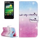 For LG K4 Dream Sky Pattern Flip Leather Case with Holder & Card Slots