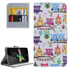 For LG K4 Heads Owls Pattern Flip Leather Case with Holder & Card Slots