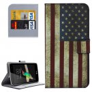 For LG K4 US Flag Pattern Flip Leather Case with Holder & Card Slots