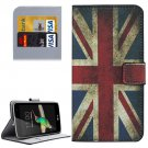 For LG K4 UK Flag Pattern Flip Leather Case with Holder & Card Slots