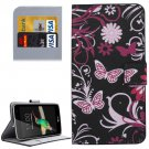 For LG K4 Butterfly Pattern Flip Leather Case with Holder & Card Slots