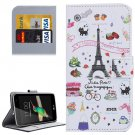 For LG K4 Cartoon Pattern Flip Leather Case with Holder & Card Slots