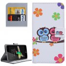For LG K4 Lovers Owl Pattern Flip Leather Case with Holder & Card Slots