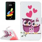 For LG Stylus 2 Owl Family Leather Case with Holder, Card Slots & Wallet
