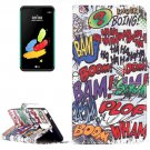 For LG Stylus 2 Graffiti Leather Case with Holder, Card Slots & Wallet