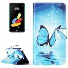 For LG Stylus 2 Butterfly Leather Case with Holder, Card Slots & Wallet