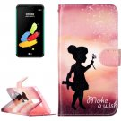 For LG Stylus 2 Wishing Girl Leather Case with Holder, Card Slots & Wallet