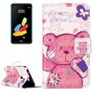 For LG Stylus 2 Pudding Bear Flip Leather Case with Holder, Card Slots & Wallet