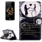 For LG  K8 Moon Couple Flip Leather Case with Holder, Card Slots & Wallet