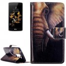 For LG  K8 Elephant Flip Leather Case with Holder, Card Slots & Wallet