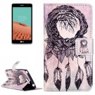 For LG  L Bello II Chimes Flip Leather Case with Holder, Card Slots & Wallet
