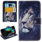 For LG  K10 Lion Flip Leather Case with Holder, Card Slots & Wallet