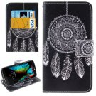 For LG  K10 Dreamcatcher Flip Leather Case with Holder, Card Slots & Wallet