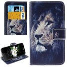 For LG  K7 Lion Flip Leather Case with Holder, Card Slots & Wallet