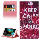For LG  K10 Keep Calm Flip Leather Case with Holder, Card Slots & Wallet