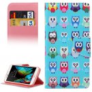 For LG  K10 Owls Flip Leather Case with Holder, Card Slots & Wallet